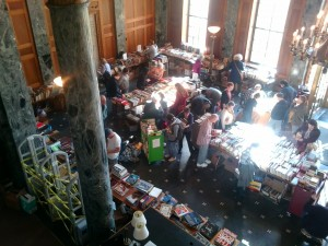 Book sale balcony view