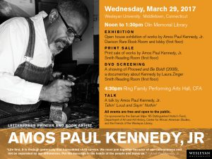 amos kennedy events flyer
